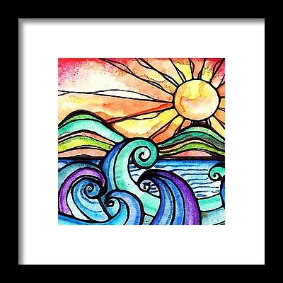Beach Framed Prints