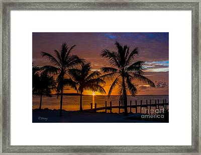 Tequila Sunrise And A Margarita Sunset Framed Print by Rene Triay Photography