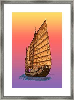 Tequila Sunrise Junk Framed Print