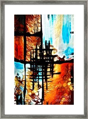 Tequila Sunrise Framed Print by Kasia Bitner
