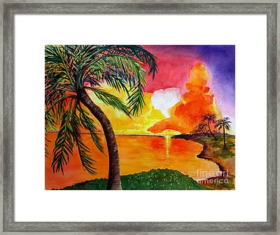Tequila Sunset Framed Print