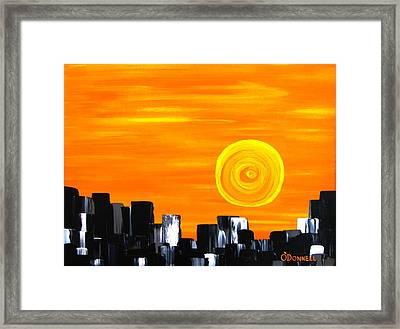 Tequila Sunset Framed Print