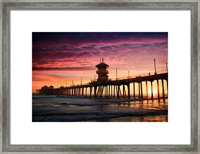 Tequila Sunset Framed Print by Tammy Espino