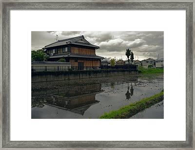 Terada Rice Paddy Estate - Japan Framed Print