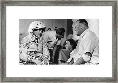 Tereshkova And Korolyov Framed Print by Science Photo Library