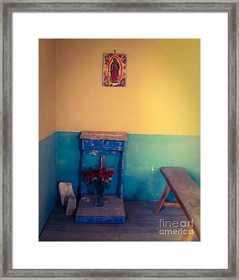 Terlingua Church Offering Framed Print by Sonja Quintero