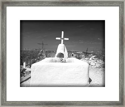 Terlingua Grave Framed Print by Sonja Quintero