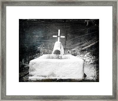 Terlingua Graves Framed Print by Sonja Quintero