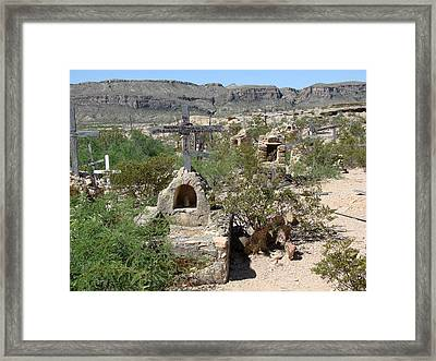 Framed Print featuring the photograph Terlingua by Linda Cox
