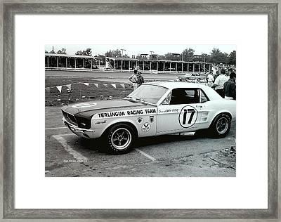 Terlingua Mustang At Marlboro Trans Am Race 1967 Framed Print