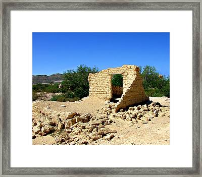 Terlingua Texas Ghost Town Framed Print