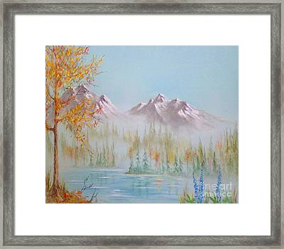 Termination Dust Framed Print by Teresa Ascone