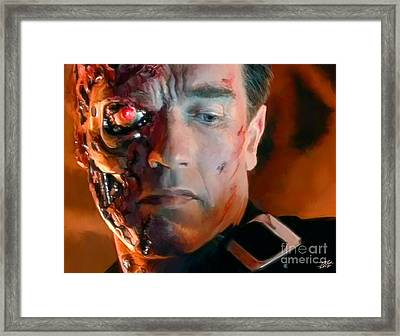Terminator Framed Print by Paul Tagliamonte