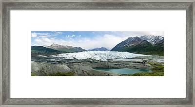 Terminus Of Matanuska Glacier Framed Print