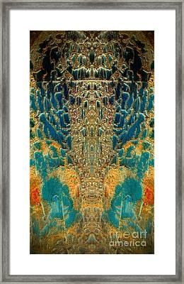 Termite Damage Framed Print by Karen Newell