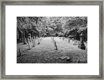 Terpenning Cemetery B And W Framed Print