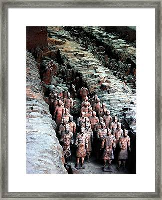 Terra Cotta Army Xiang China Framed Print by Jacqueline M Lewis