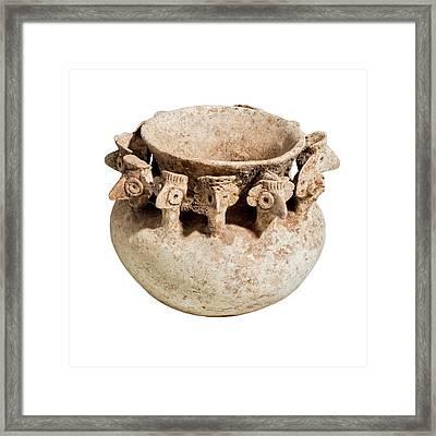 Terra-cotta Bowl Framed Print by Photostock-israel