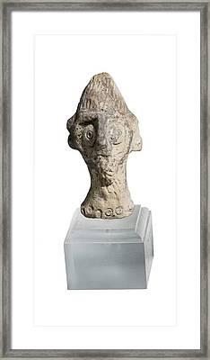 Terra-cotta Figurine Head Framed Print by Photostock-israel