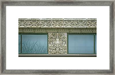 Terra Cotta Frieze And Medallion - Securities Building - Omaha Framed Print by Nikolyn McDonald