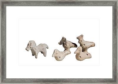 Terra-cotta Horse And Birds Framed Print