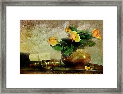 Terra Cotta Rose Framed Print