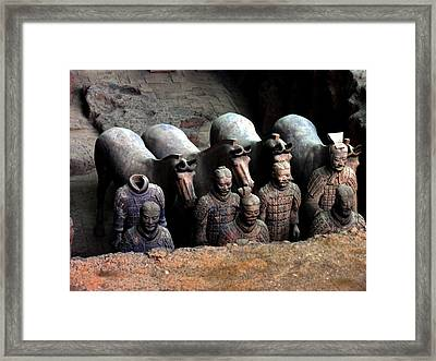 Terra Cotta Warriors Xiang China Framed Print by Jacqueline M Lewis