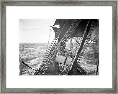 Terra Nova Antarctic Sailing Framed Print by Scott Polar Research Institute