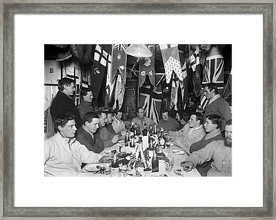 Terra Nova Antarctic Winter Party Framed Print