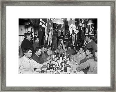 Terra Nova Antarctic Winter Party Framed Print by Scott Polar Research Institute