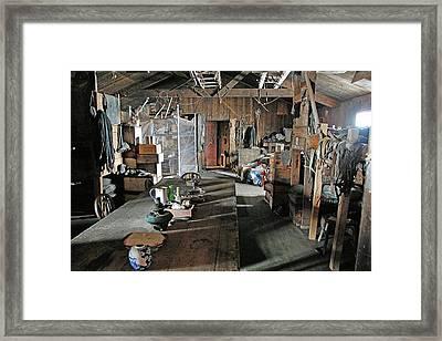 Terra Nova Hut Interior Framed Print by Nasa/michael Studinger