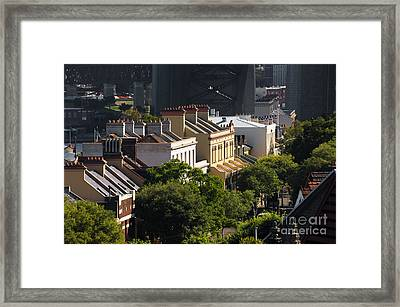 Terrace Houses In The Rocks Area Of Sydney Framed Print