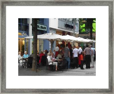 Terrace In Koln Framed Print