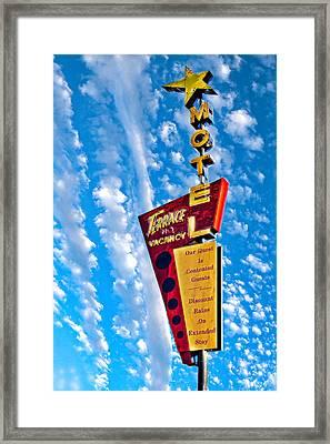 Terrace Motel Framed Print