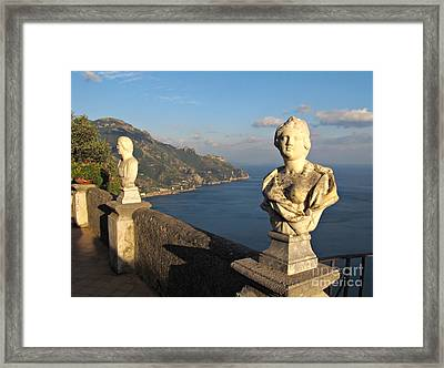 Terrace Of Infinity In Ravello On Amalfi Coast Framed Print by Kiril Stanchev