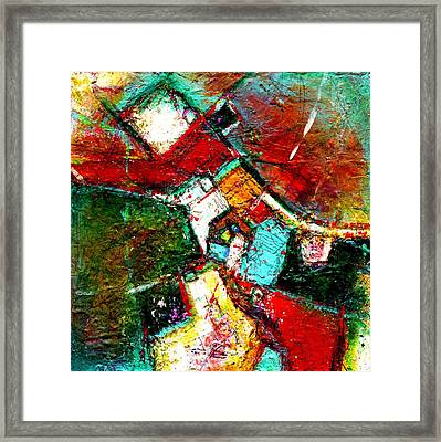 Terracota Fields - Square Format- Abstract Art By Laura Gomez Framed Print