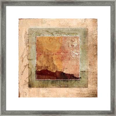 Terracotta Earth Tones Framed Print