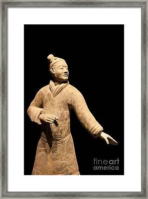 Terracotta Warrior In Xi'an China Framed Print by Fototrav Print