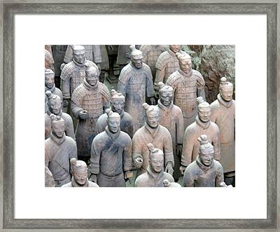 Framed Print featuring the photograph Terracotta Warriors by Kay Gilley
