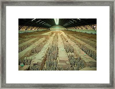 Terracotta Warriors Of China Framed Print by Rory Wallwork