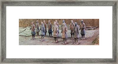 Terracotta Warriors, Xian, Shaanxi Framed Print by Panoramic Images