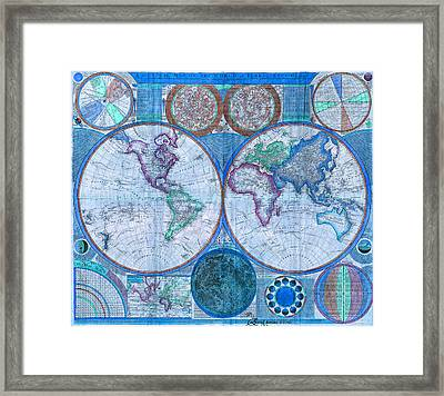 Terraqueous Globe - Map Of The World Framed Print
