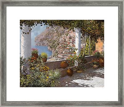 terrazza a Positano Framed Print