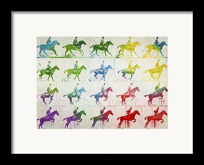 Horse Race Framed Prints