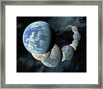 Terrestrial Planets Framed Print by Nasa/jpl-caltech/r. Hurt (ssc-ca