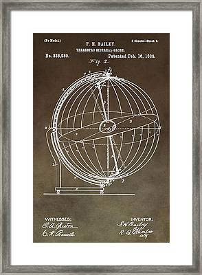 Terrestro Sidereal Globe Framed Print