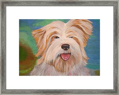 Terrier Portrait Framed Print