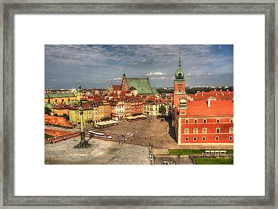 Terrific Warsaw - The Castle And Old Town View Framed Print