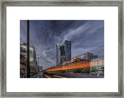 Terrific Warsaw With Zoom Perspective From Jerozolimskie To Rondo One Framed Print