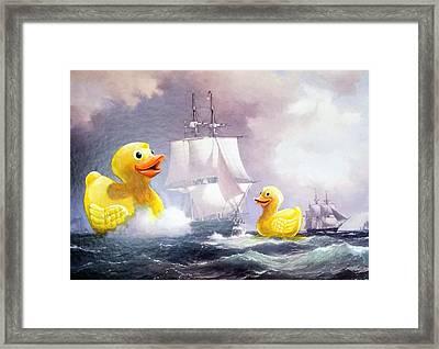 Terror On The High Seas II Framed Print